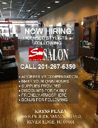 HAIRSTYLIST for new River Edge  NJ Salon 07661