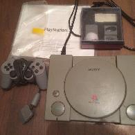 45  Sony PlayStation PS1 SCPH-7501 Console  DualShock 2 memory cards and controller  manual   GAMES