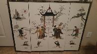 50  Japanese 4 panel wall hanging