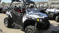 12 500  2014 Polaris RZR S 800 EPS Fox White Lightning LE