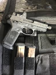 900  FN Fnx tactical  45 Black w Trijicon rm02 6 5 moa