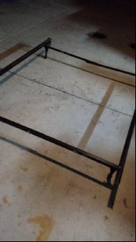 250  Queen bedframe headboard  dresser  twin tempura pedic mattress  boxspring  metal frame