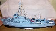 850  BOAT MODEL - Nautical - USS Whippoorwill in Case - Estate of Capt  AM SAVAGE