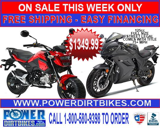 $369, Dirt Bikes Pit Bikes, Four Wheeler Quads, ATVS, Pocket Bikes, Go Karts, Gas Scooters, Motorcycles
