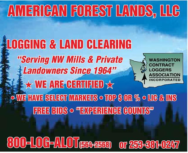 Tree Logging Company Service Pacific Northwest Western Washington timber 1-800 LOG ALOT