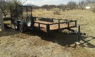 2 000  Gravely 16 tandem axle utility trailer