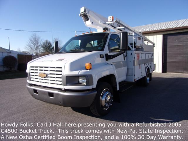 $24,500, Refurbished 05 Chev C4500 Bucket Truck 86k