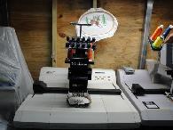 2 200  Melco EMC6 Tajima commercial embroidery machine w Extras