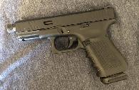 550  Glock 19 gen 4 with custom milled slide and threaded barrel