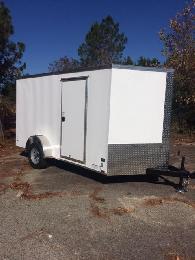 2 099  6x12 New Anvil Elite Cargo Trailers-VNose  Ramp Door  63 height  LED Lights  Radials FREE GIFT