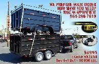 5 300  8x12x4 Dump H Trailer Brand New 2018