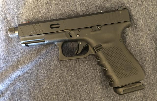 $550, Glock 19 gen 4 with custom milled slide and threaded barrel